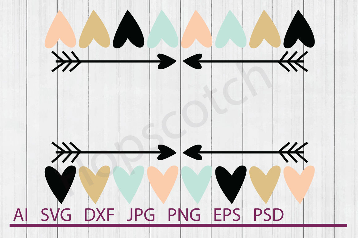 Heart Border Svg Heart Border Dxf Cuttable File By Hopscotch