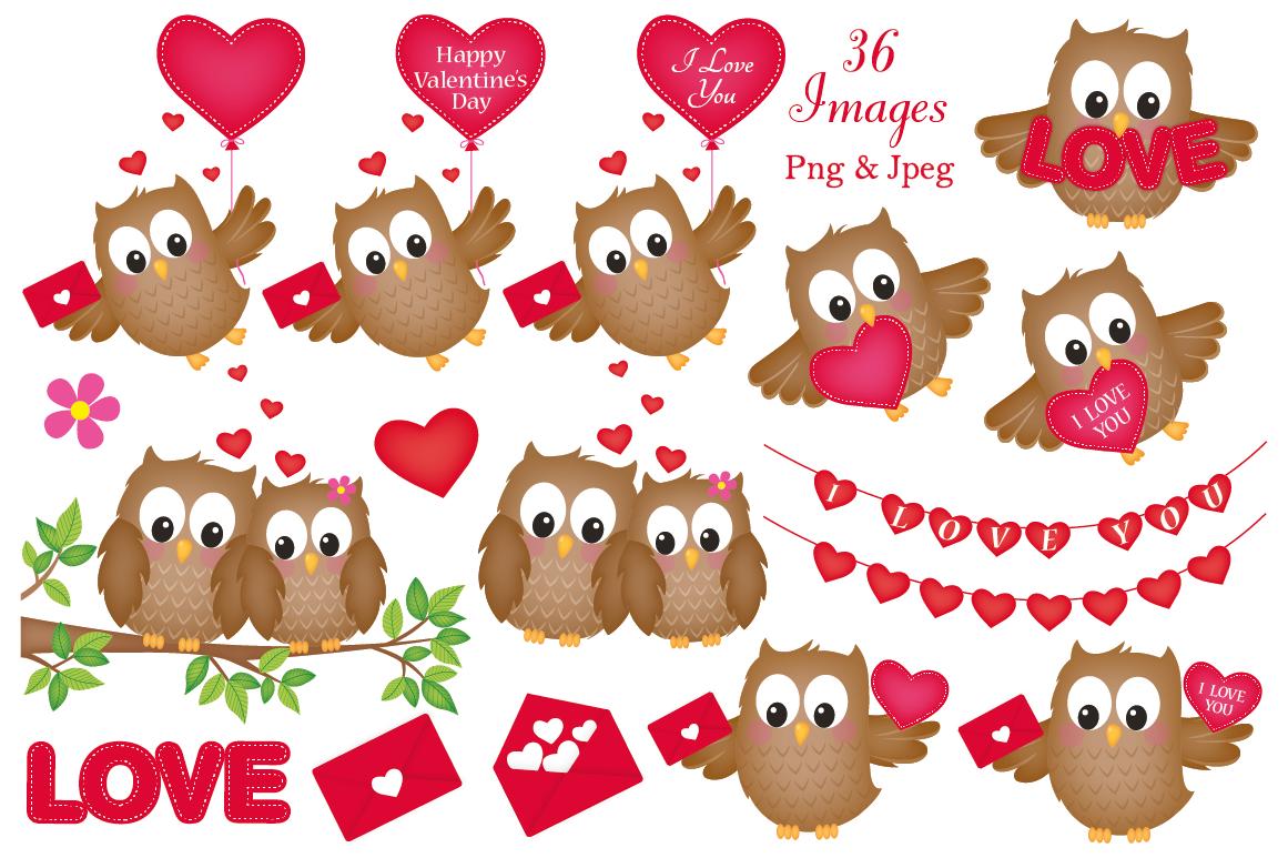 Valentine Owl Clipart - Vector | Pre-Designed Illustrator Graphics ~  Creative Market