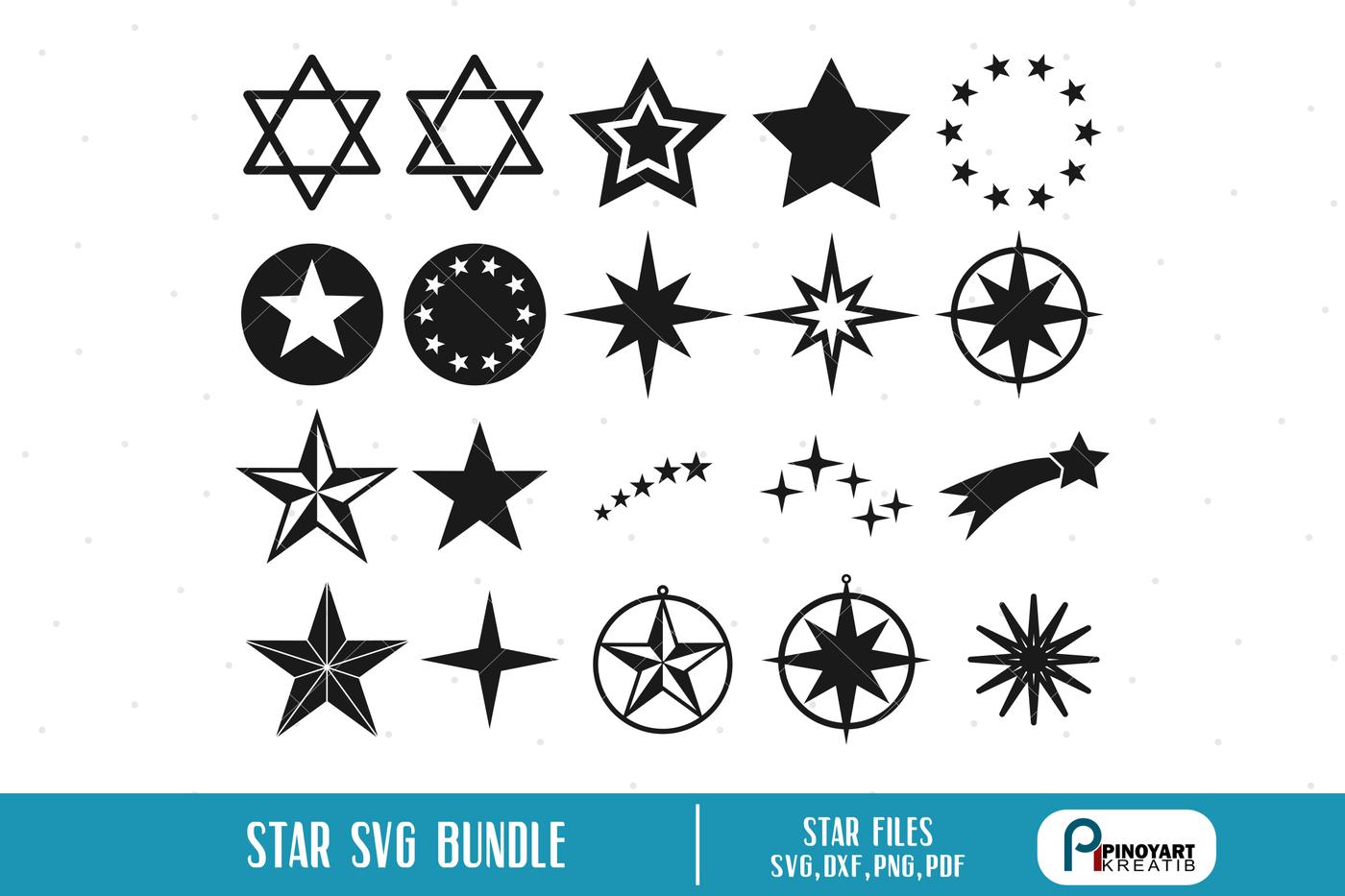 Star Svg Shooting Star Svg Christmas Star Svg Svg Files For