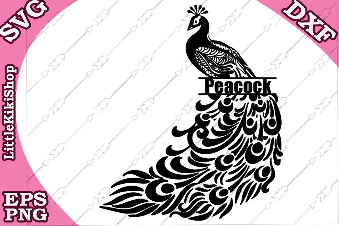 Zentangle Peacock Monogram Svg Mandala Peacock Svg By