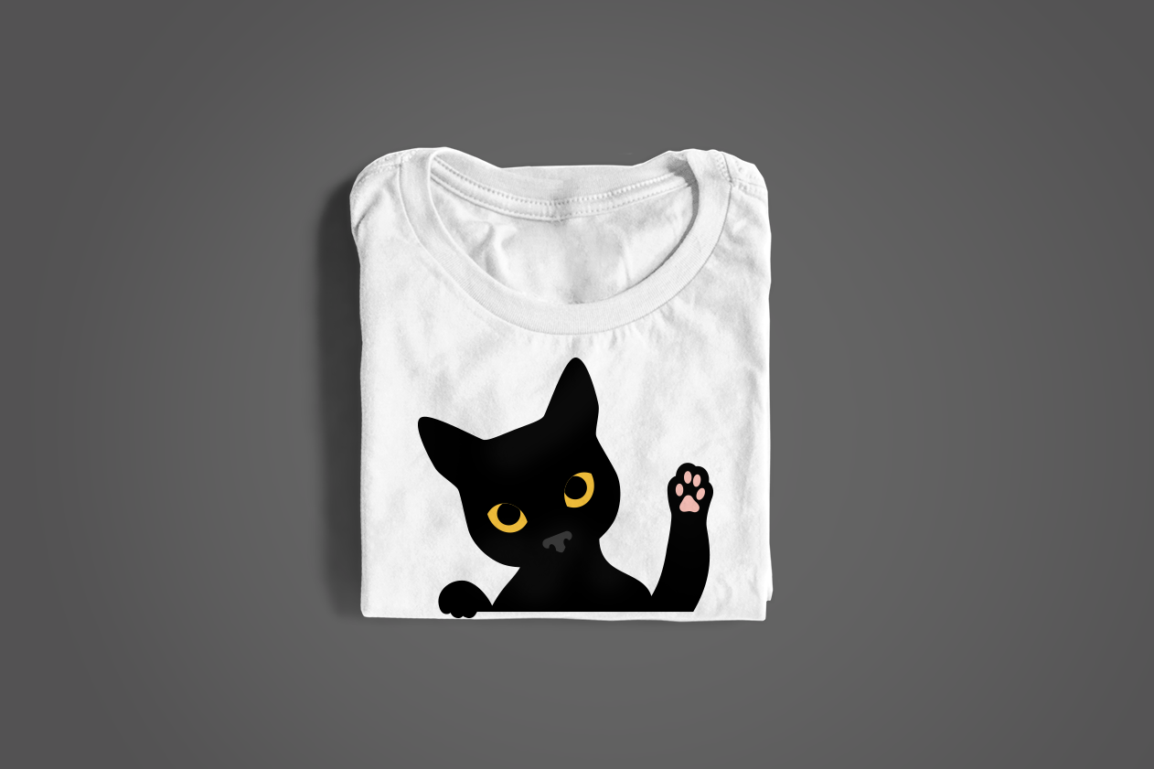 Peeking Cat Svg Png Dxf By Designed By Geeks Thehungryjpeg Com