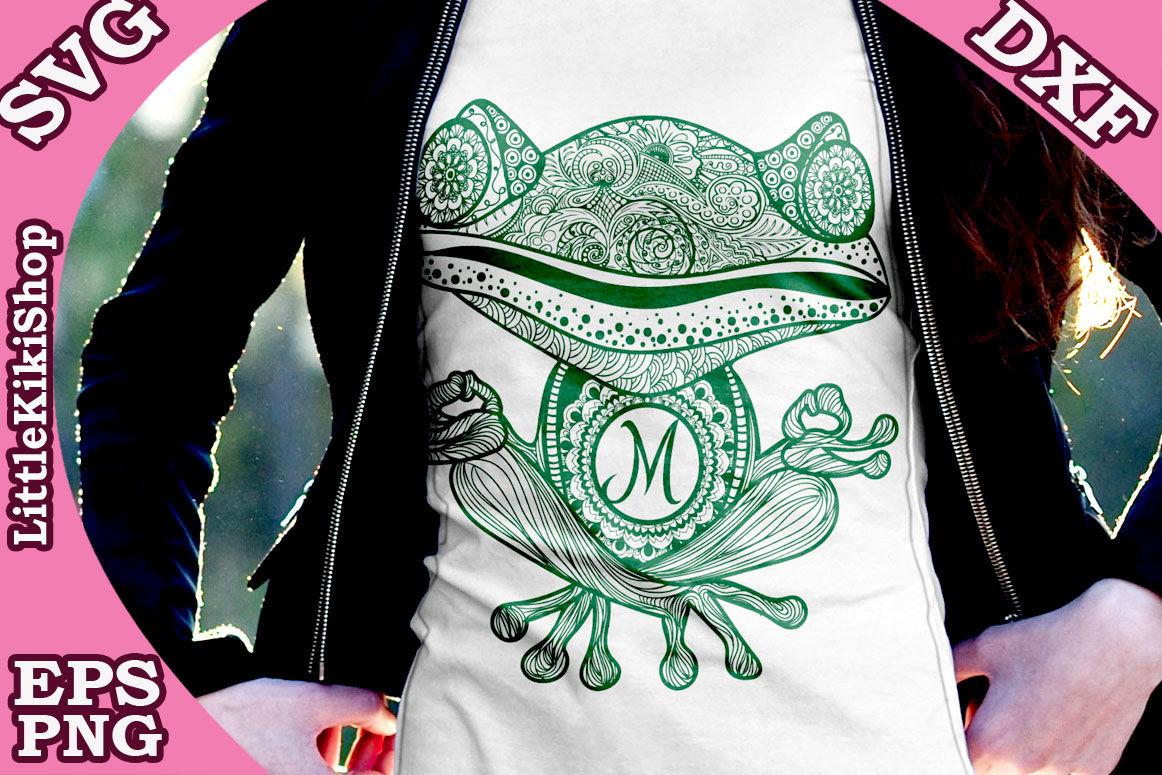 Yoga Frog Monogram Svg Mandala Frog Svg Yoga Svg Funny Frog Svg