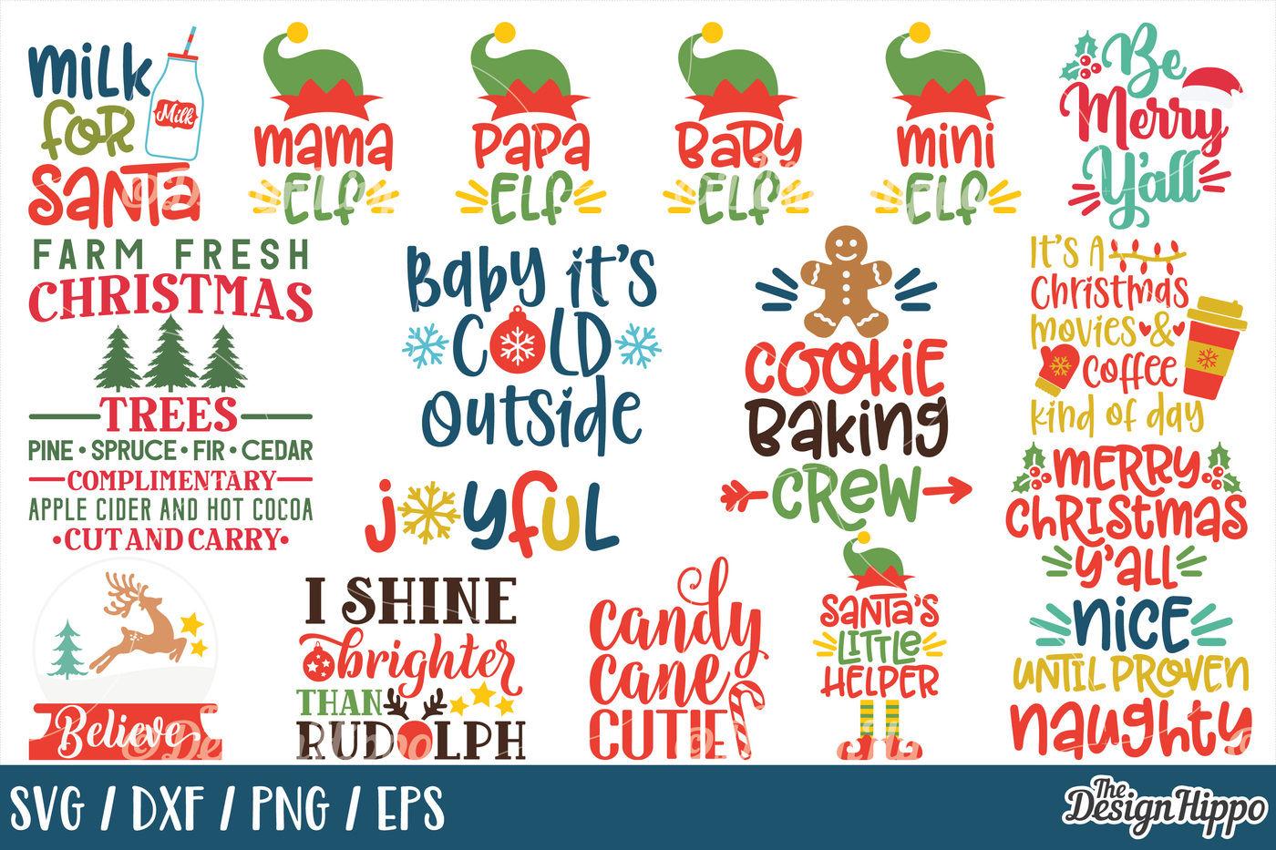 41+ Ultimate Christmas Cut File Bundle – Svg, Dxf, Eps Image