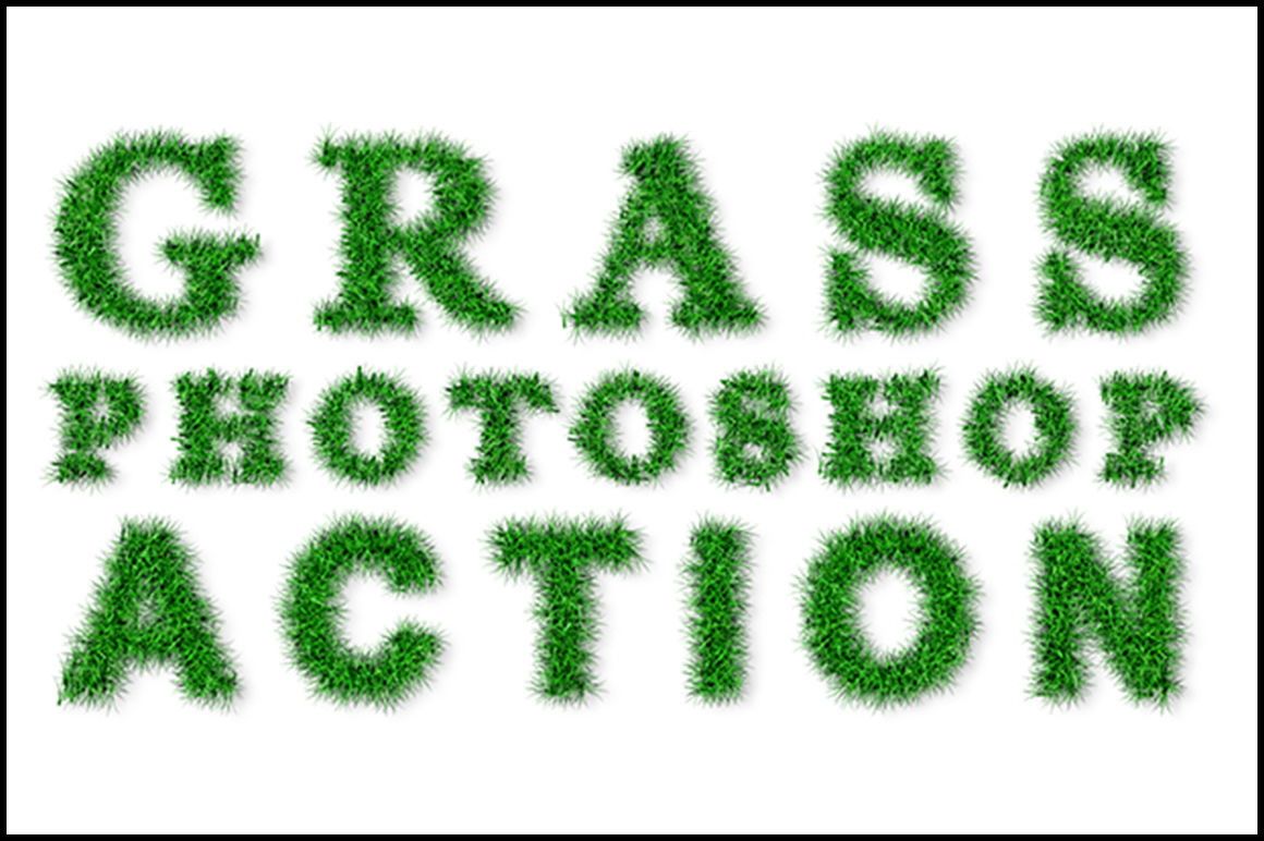 Grass Effect Generator Photoshop Action By teewinkle