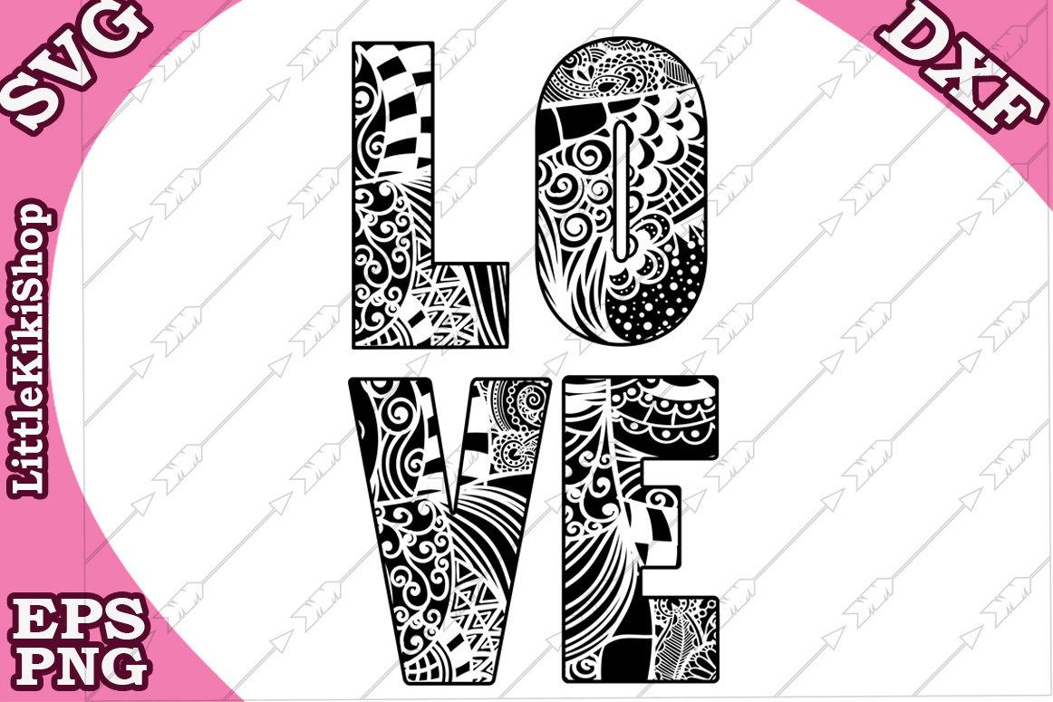 Love Svg Love Cut Files Mandala Love By Littlekikishop