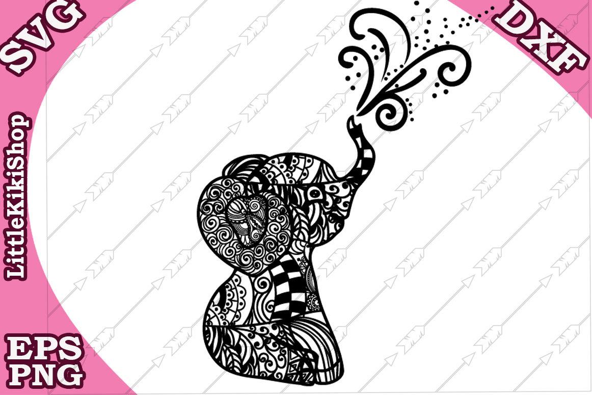 Baby Elephant Svg Mandala Elephant Svg Zentangle Animal