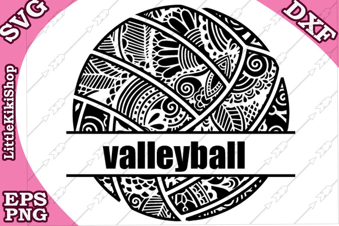 Volleyball Monogram Svg Mandala Valleyball Zentangle Svg By