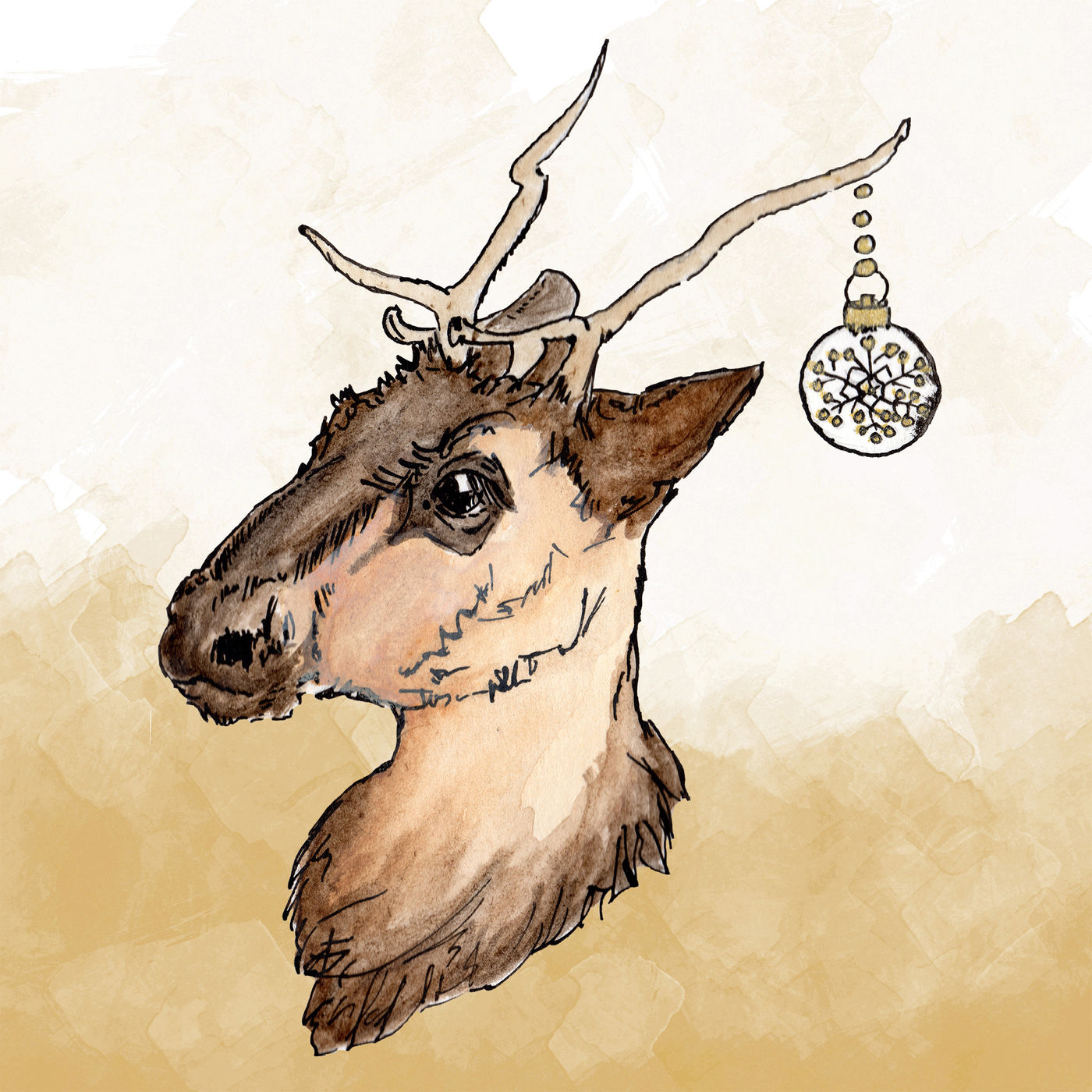 Christmas Reindeer Clipart By Girl In Design Thehungryjpeg Com