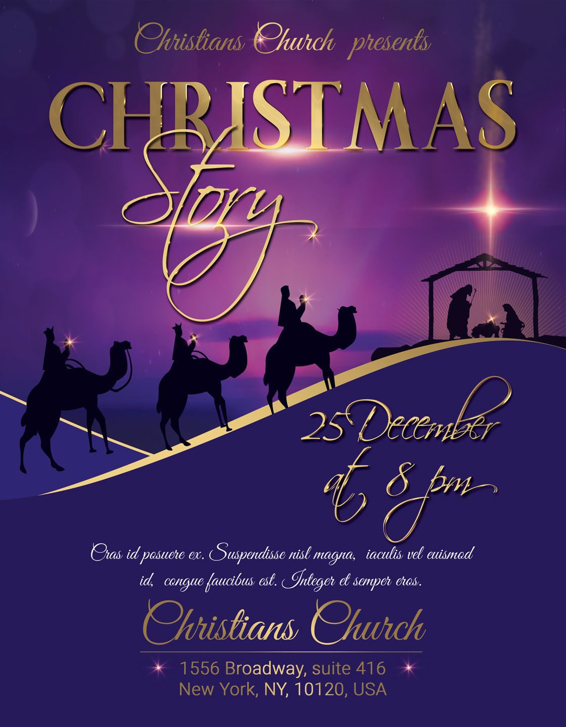 A Nihgt Of Hope Christmas Story Flyer Poster By Artolus