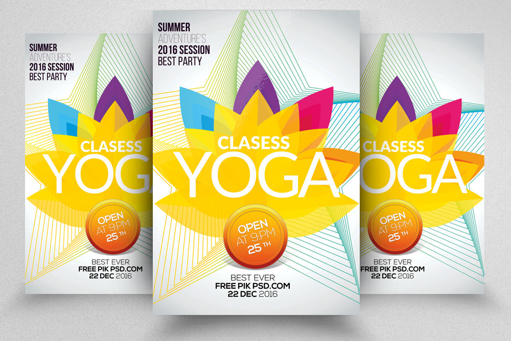 Yoga Classes Flyer Template By Designhub Thehungryjpeg Com