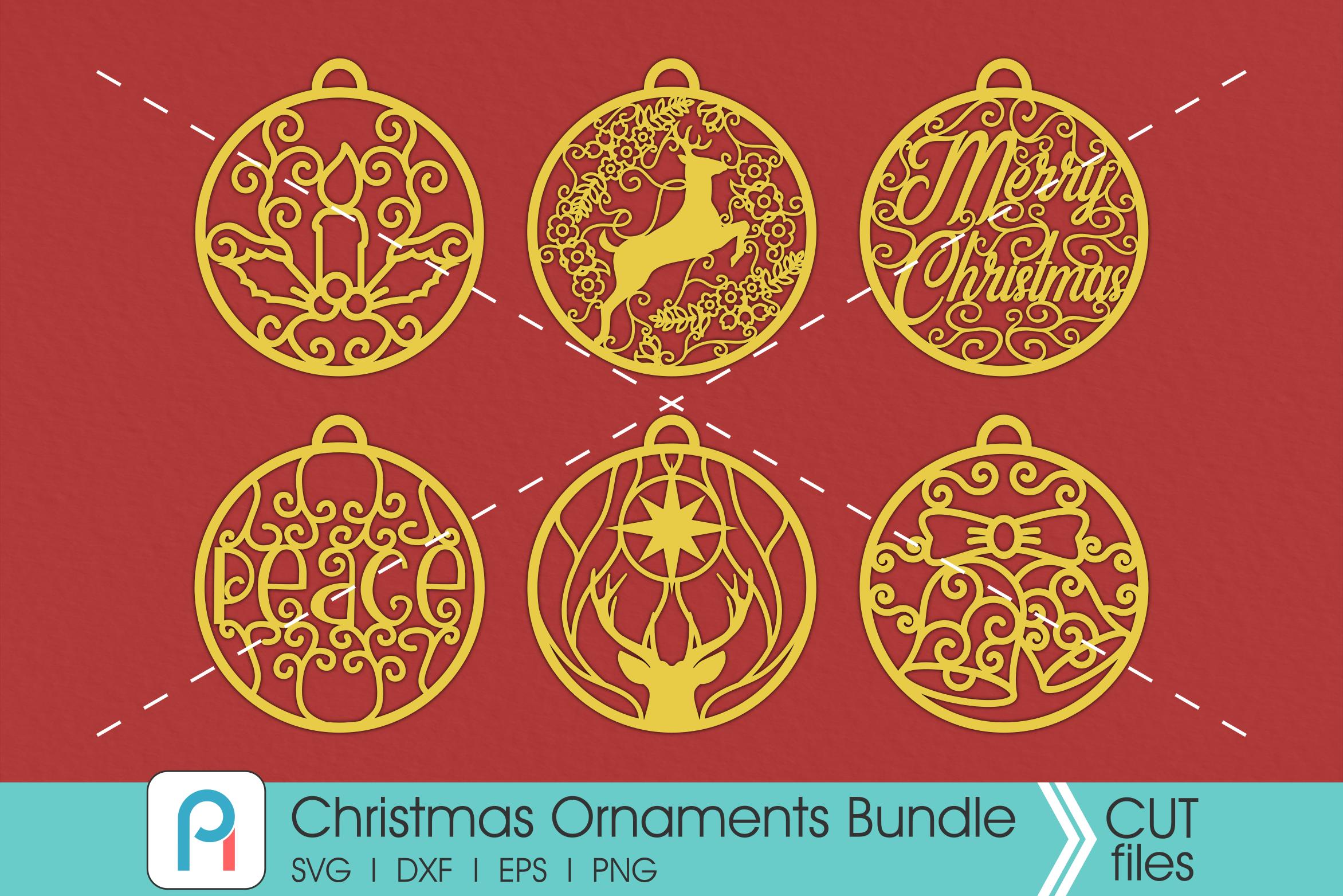 Christmas Ornaments Svg Christmas Balls Svg Baubles Svg Svg Files By Pinoyart Thehungryjpeg Com