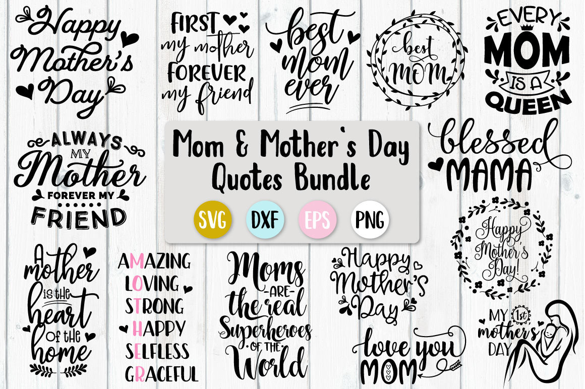 Mother S Day Bundle Svg Png Dxf Eps By Craft Pixel Perfect