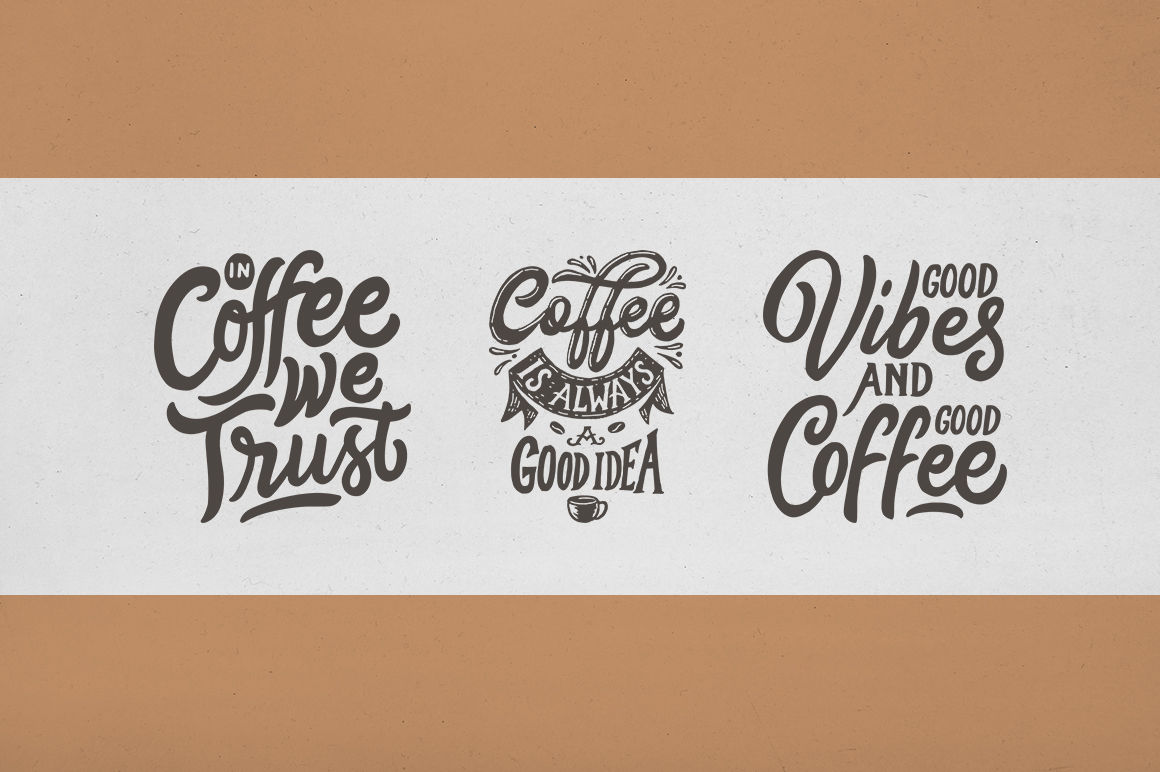 svg bundle set of hand lettering coffee quotes vol by weape