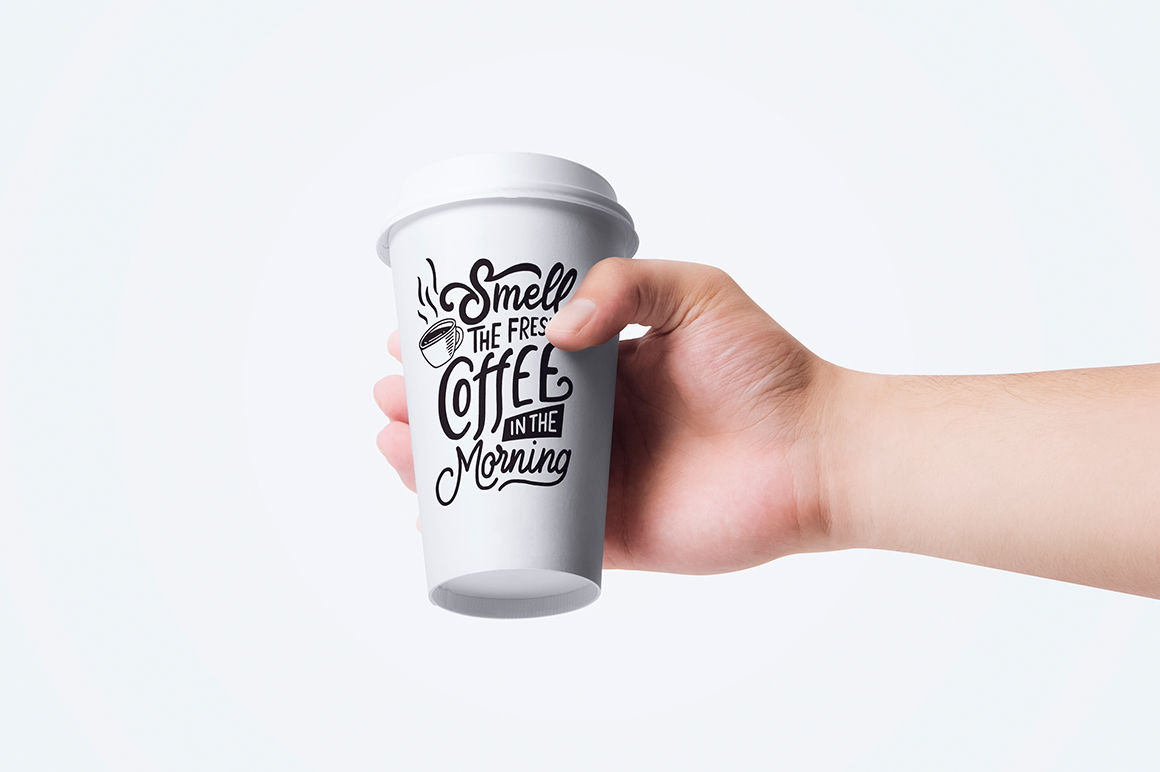 Svg Bundle Set Of Hand Lettering Coffee Quotes Vol2 By Weape