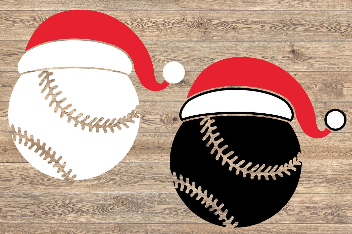 Santa Baseball Hat Christmas Svg Elf Tackle Merry Christmas 1139s