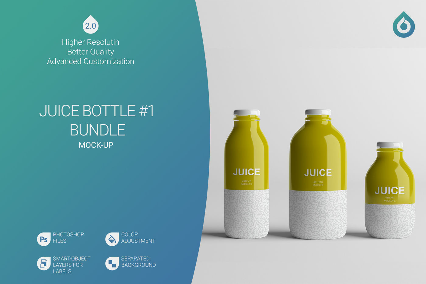 Tablet Bottle Mockup