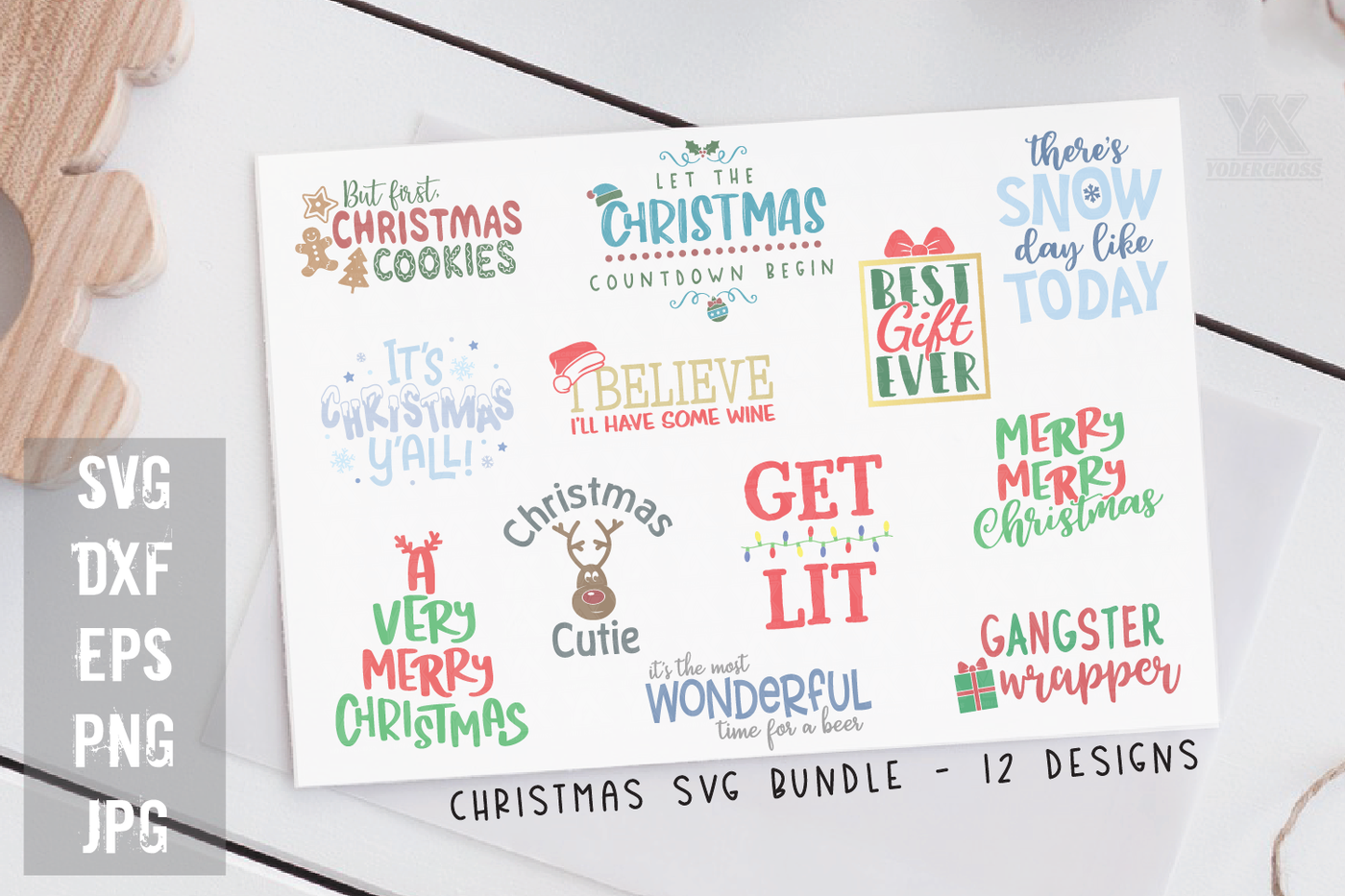 Christmas Svg Design Bundle Volume 1 By Yodercross