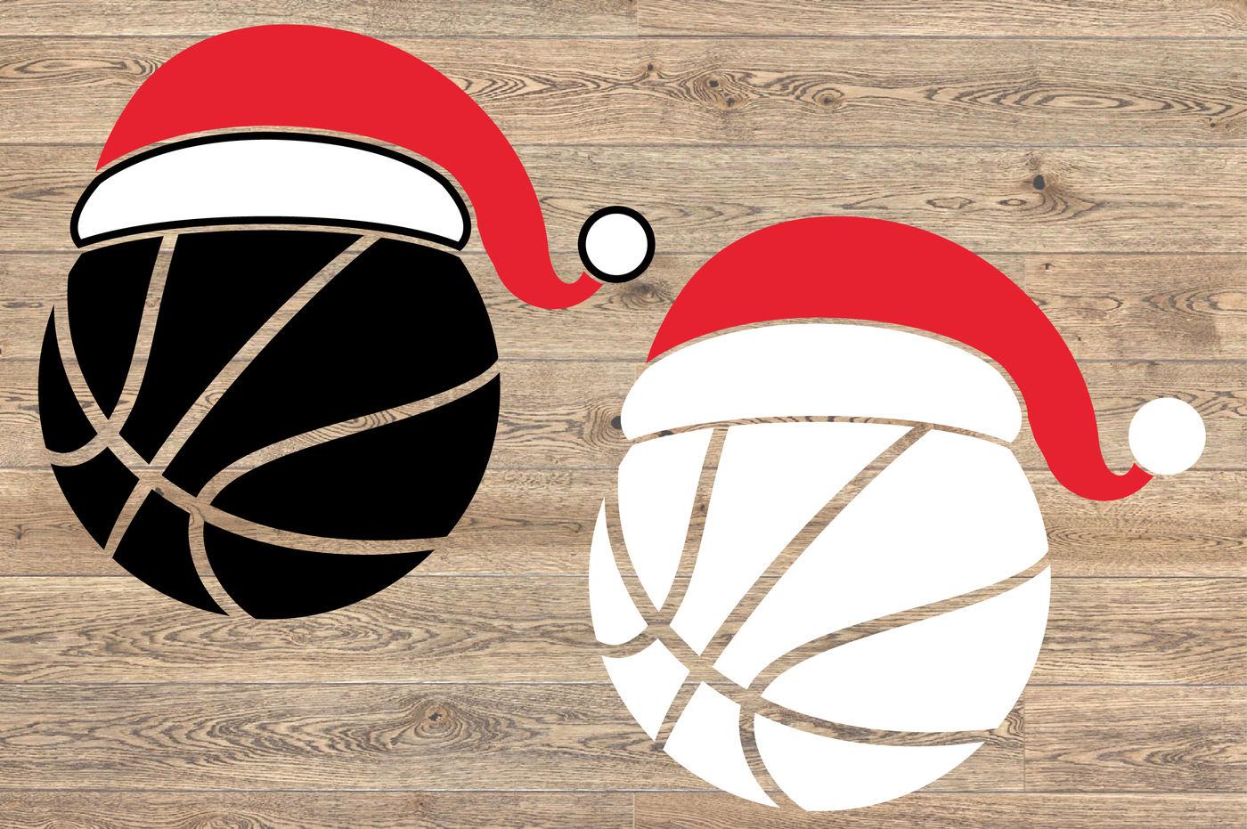 Santa Basketball Hat Christmas Svg Elf Sweater 1141s By Hamhamart