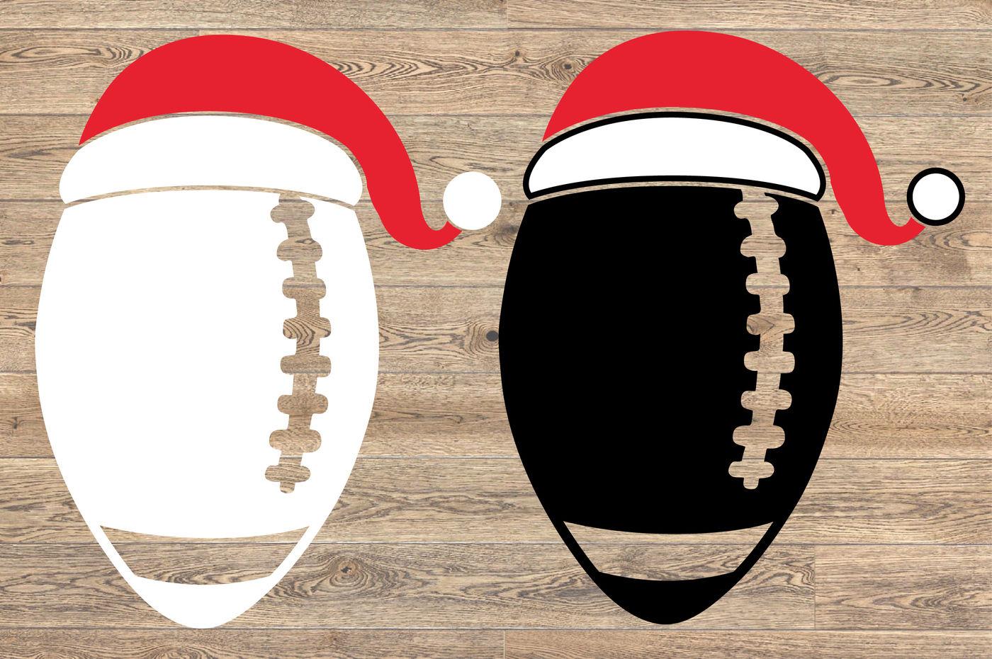 Santa Football Hat Christmas Svg Elf Sweater 1142s By Hamhamart