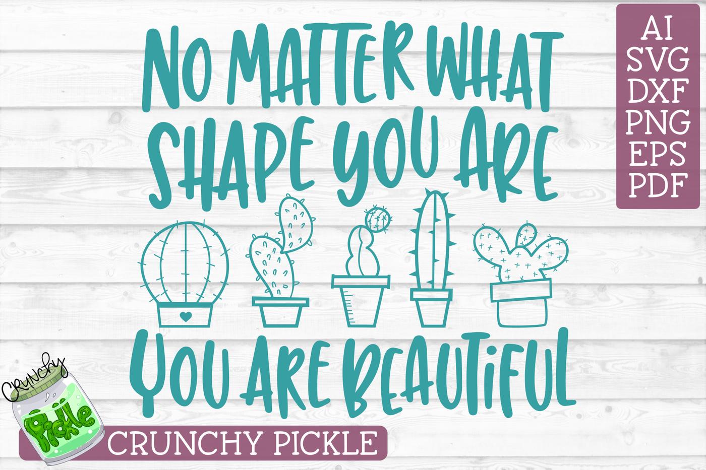 Beautiful Shape Cactus Svg By Crunchy Pickle Thehungryjpeg Com