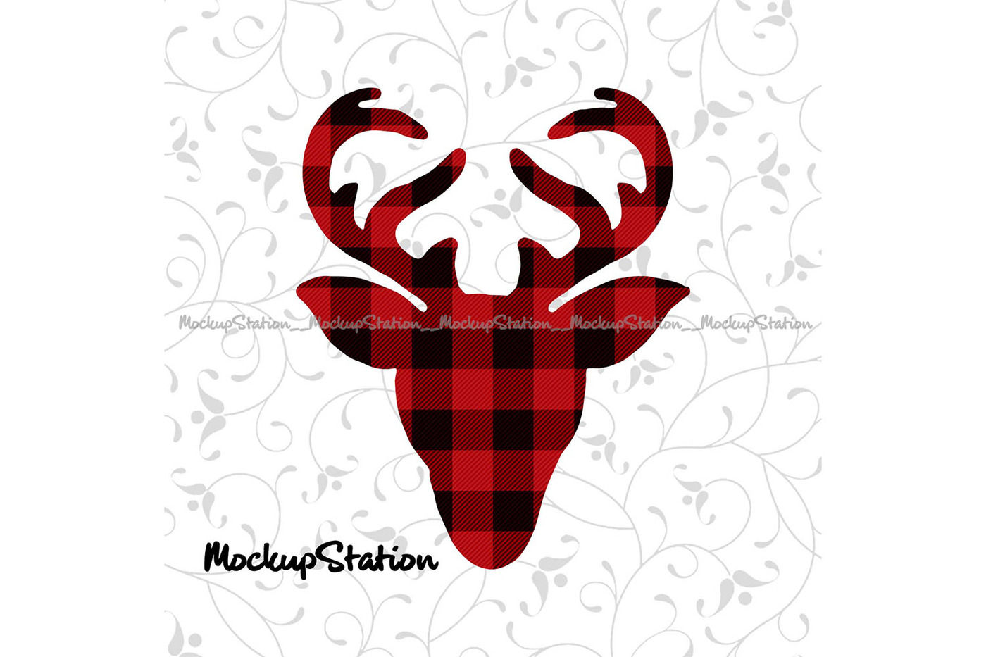 Christmas Reindeer Head Sublimation Design Transfer File Png By