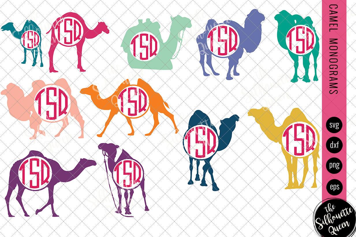 Camel Svg Monogram Svg Circle Frames Cuttable Design Cut Files