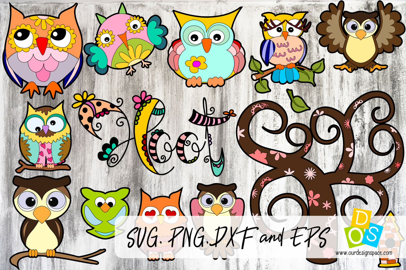 Owl Svg Png Dxf And Eps Bundle By Our Design Space Thehungryjpeg Com