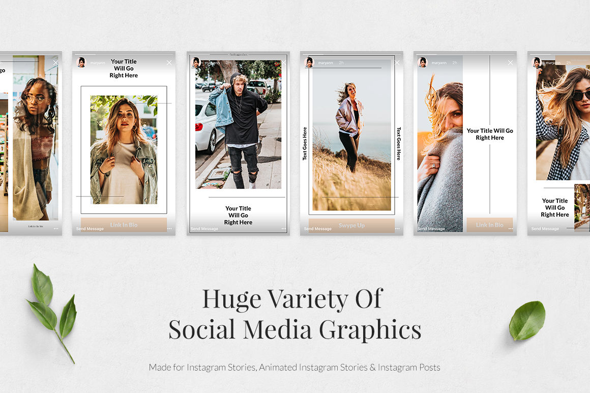 Huge Instagram Bundle By Social Corner Graphics Thehungryjpeg Com