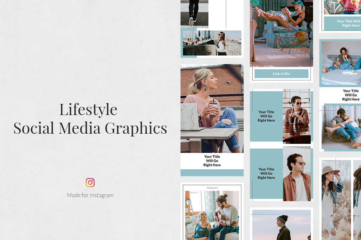 Huge Instagram Bundle By Social Corner Graphics Thehungryjpeg Com