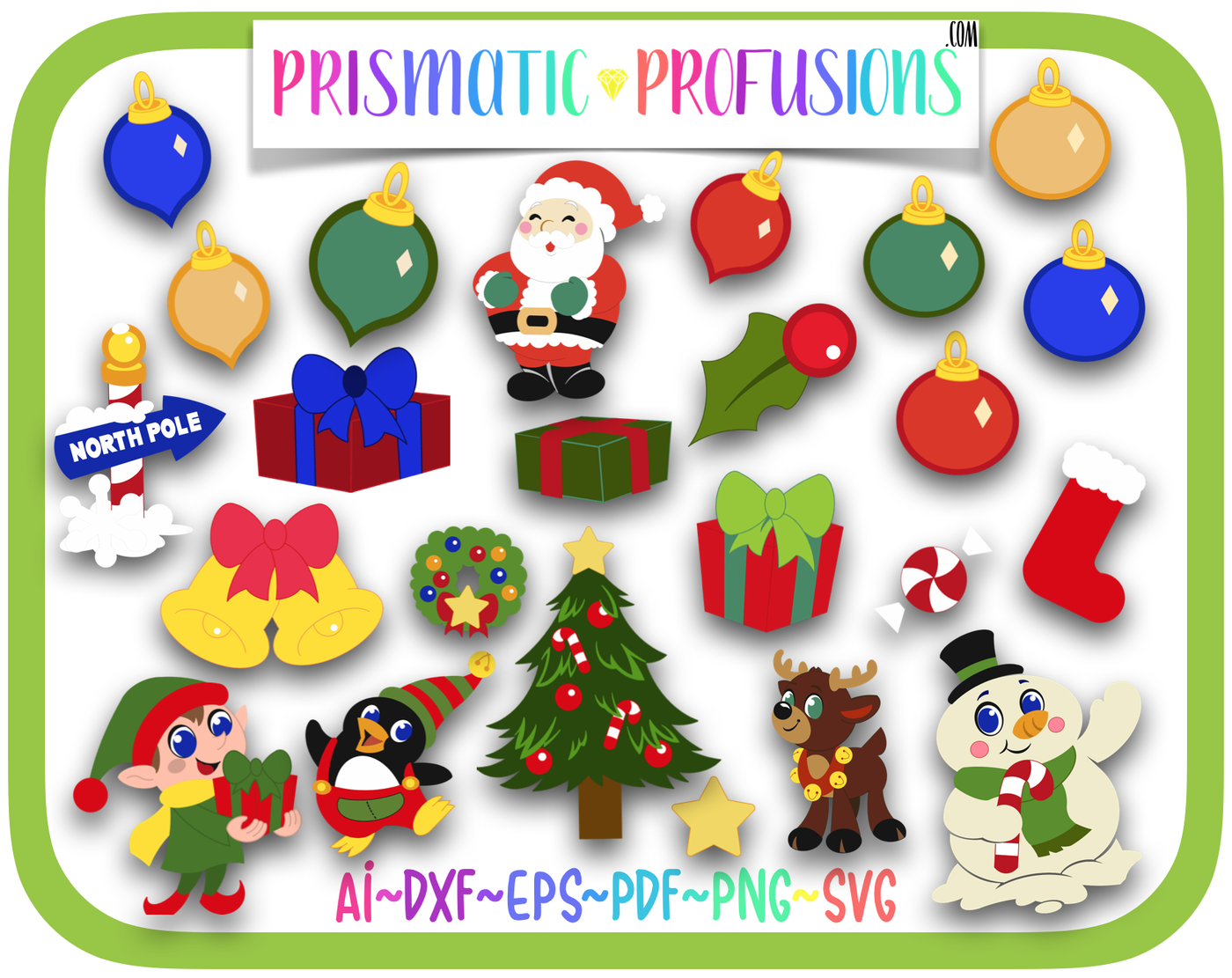 Christmas Svg Christmas Clipart By Prismatic Profusions