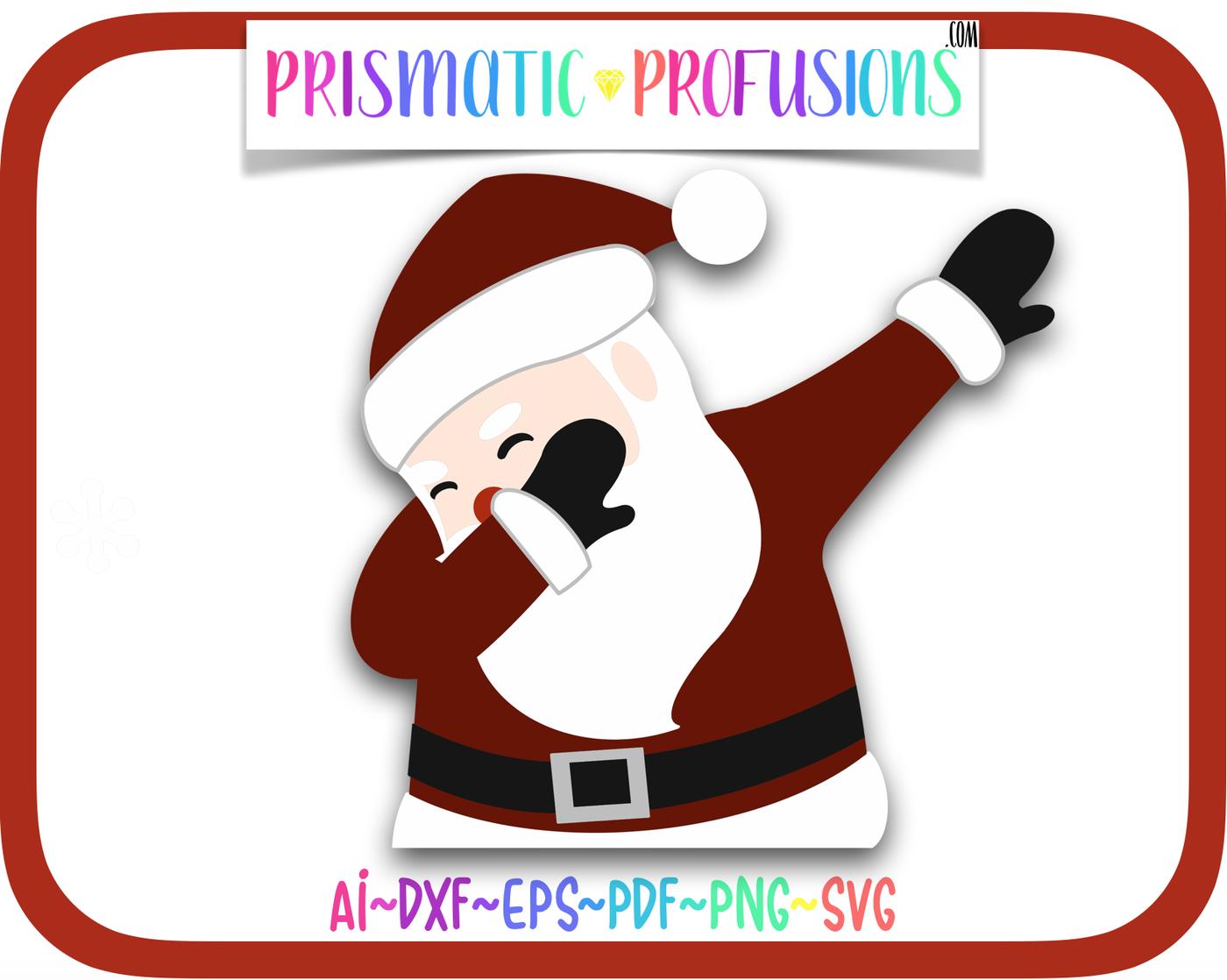 Dabbing Santa Svg Dabbing Santa Clipart By Prismatic Profusions