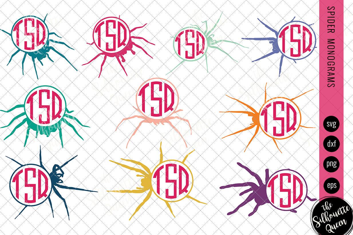 Spider Svg Monogram Svg Circle Frames Cuttable Design Cut