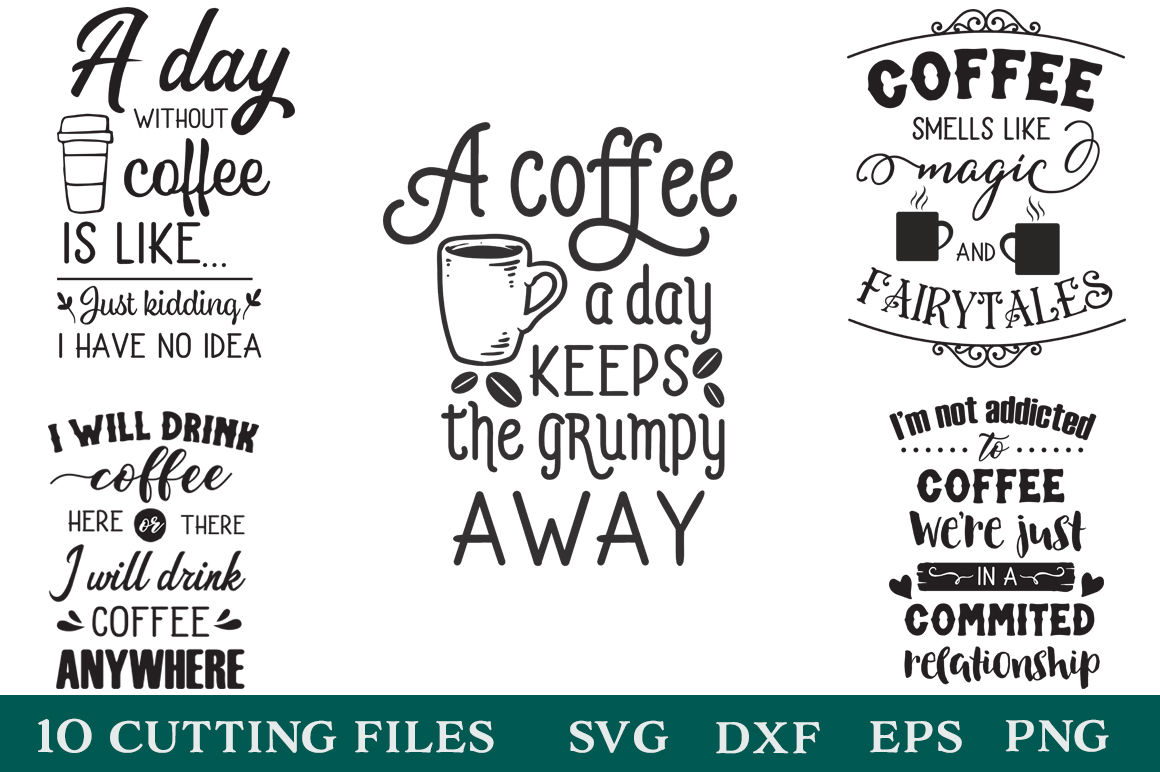 Coffee Lovers Pack - Coffee Quotes - Limited Promotion By ...