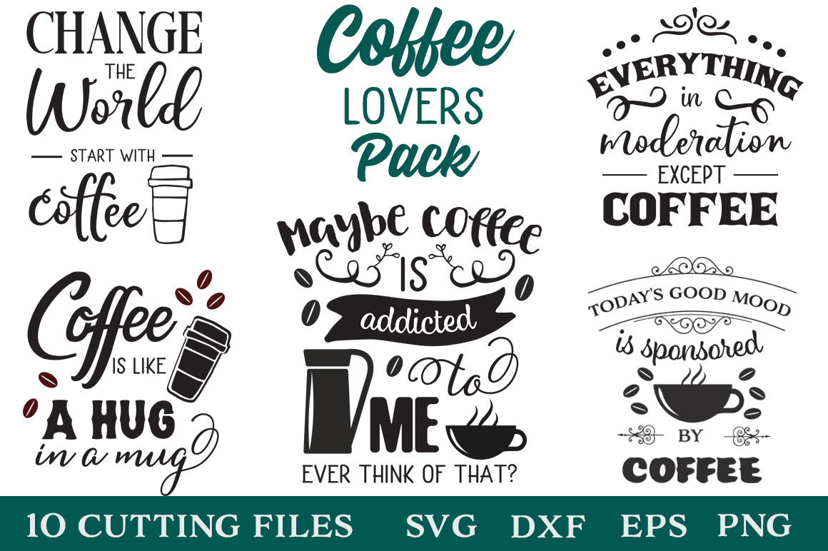 Coffee Lovers Pack Coffee Quotes Limited Promotion By