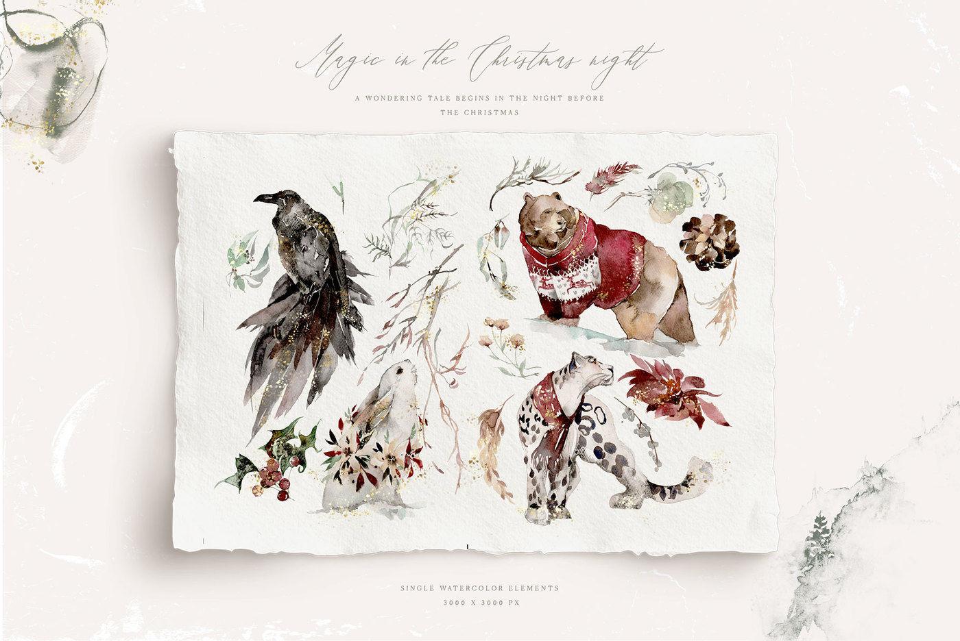 Christmas Fields By The Everlasting Story Thehungryjpeg Com