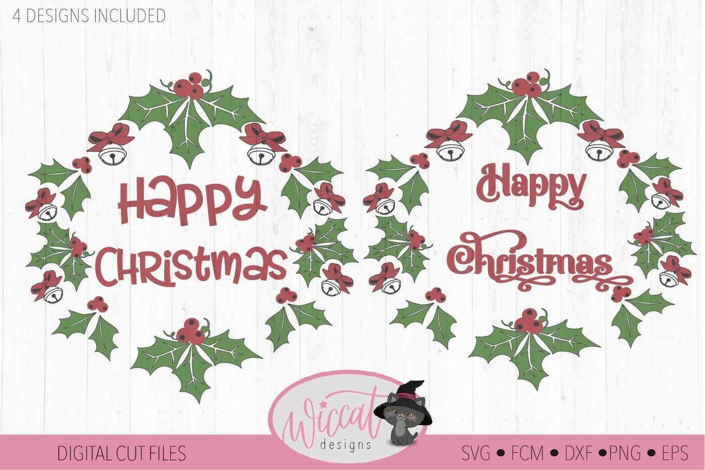 Merry Christmas Wreath Svg Branch Svg Wreath Sv By Wiccatdesigns