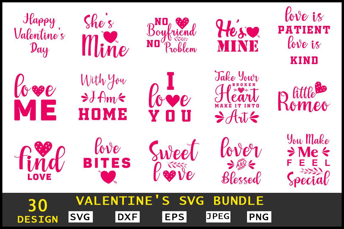Valentine S Svg Bundle By Teewinkle Thehungryjpeg Com