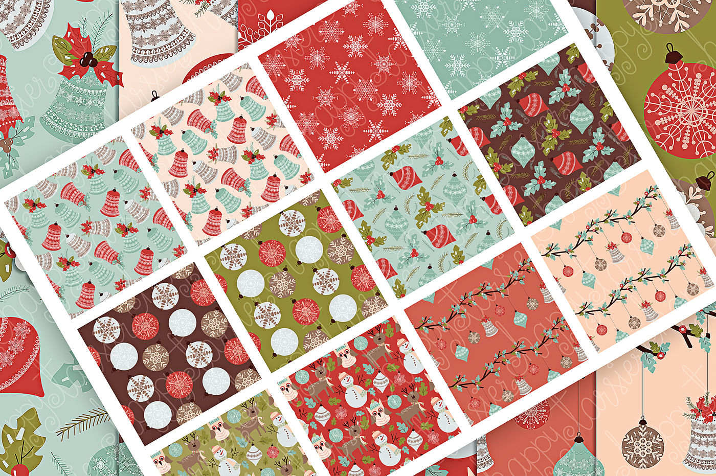 Christmas 02 Seamless Patterns Digital Papers By Michelle Alzola