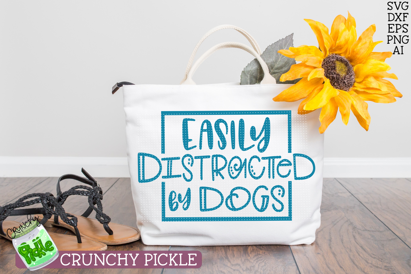 Easily Distracted By Dogs Svg By Crunchy Pickle Thehungryjpeg Com