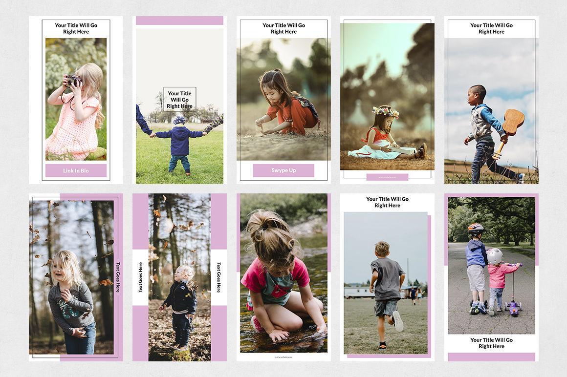 Kids Instagram Stories By Social Corner Graphics Thehungryjpeg Com