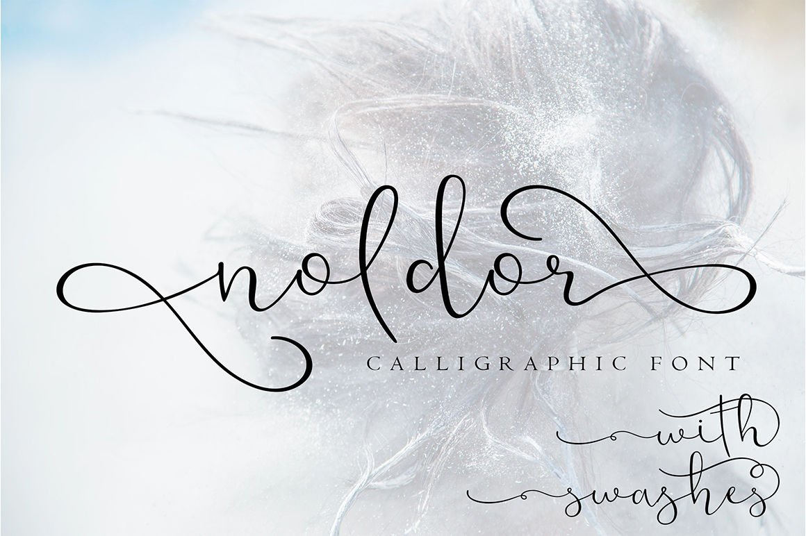 Noldor Calligraphy Font With Swashes By Artiteki Thehungryjpeg Com
