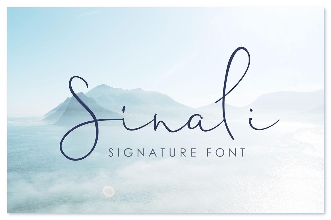 Sinali Signature Font By Artiteki Thehungryjpeg Com
