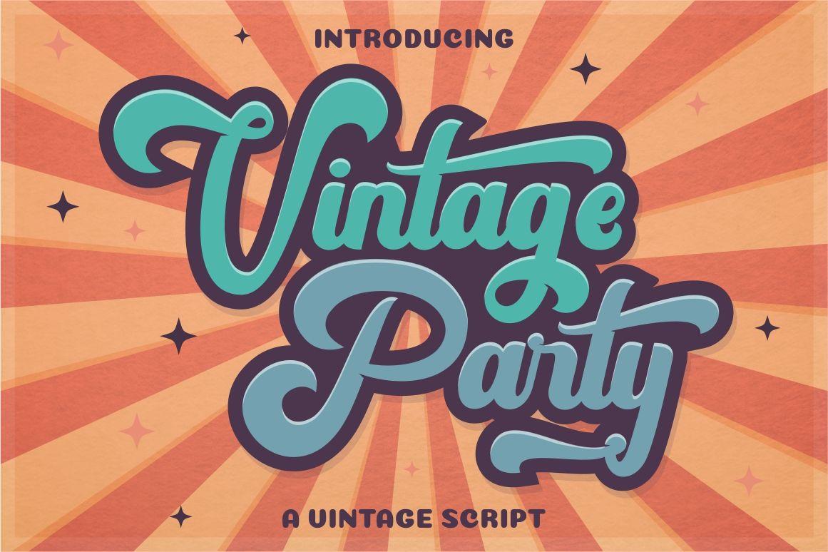 Vintage Party Bold Retro Script By Putracetol Studio