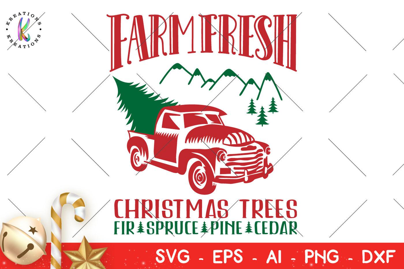 Farm Fresh Christmas Trees Svg.Christmas Svg Farm Fresh Christmas Trees Svg By