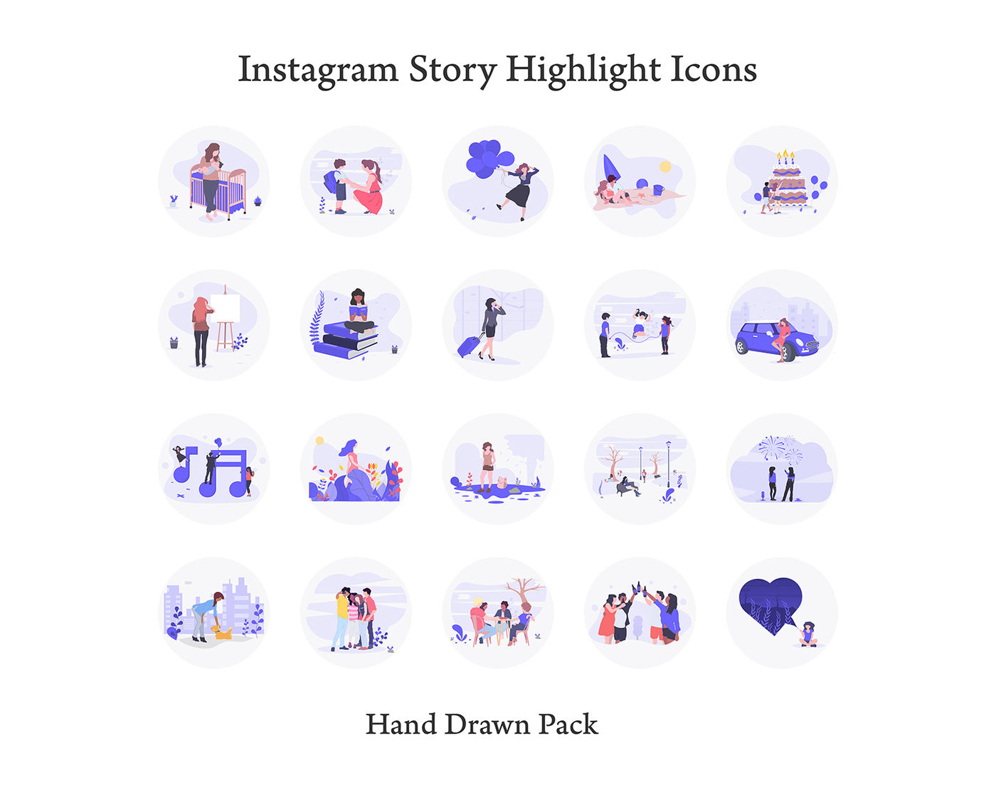 Instagram Story Highlight Icons By North Sea Studio