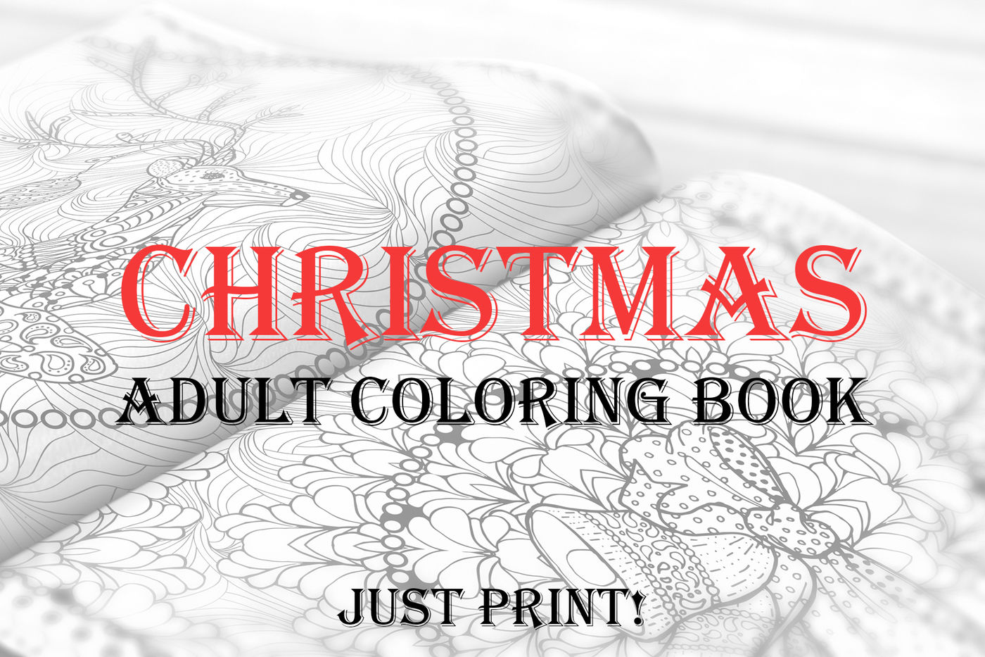 Christmas Adult Coloring Book Pdf Eps Jpeg By Ilonitta
