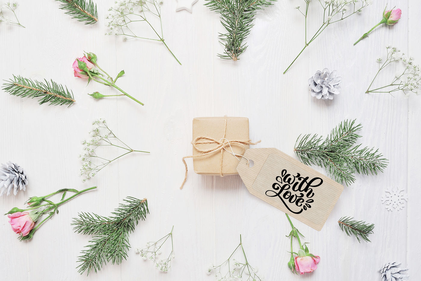 Christmas Gift Tags By Happy Letters Thehungryjpeg Com