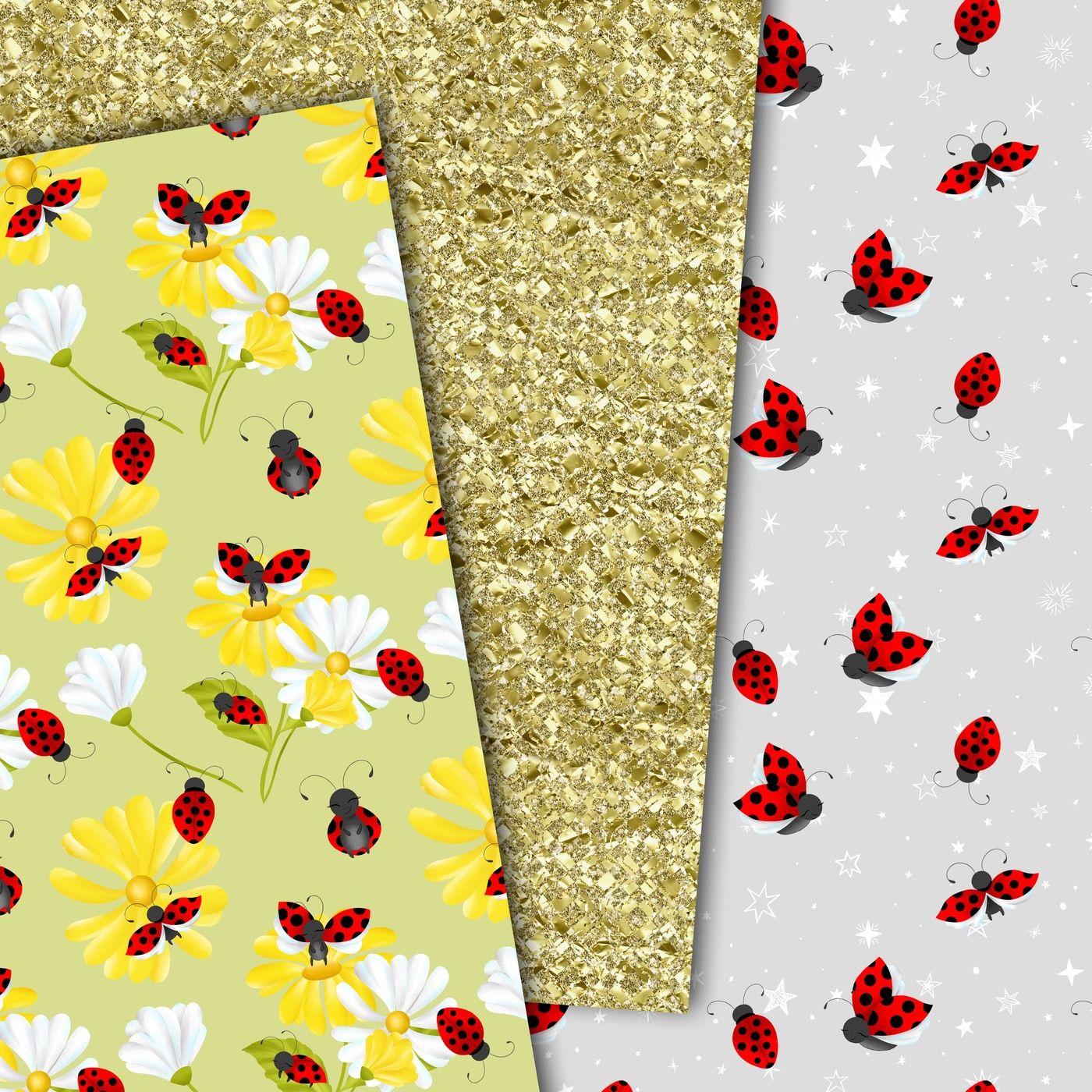 ladybug digital paperdigitaldesignsandart