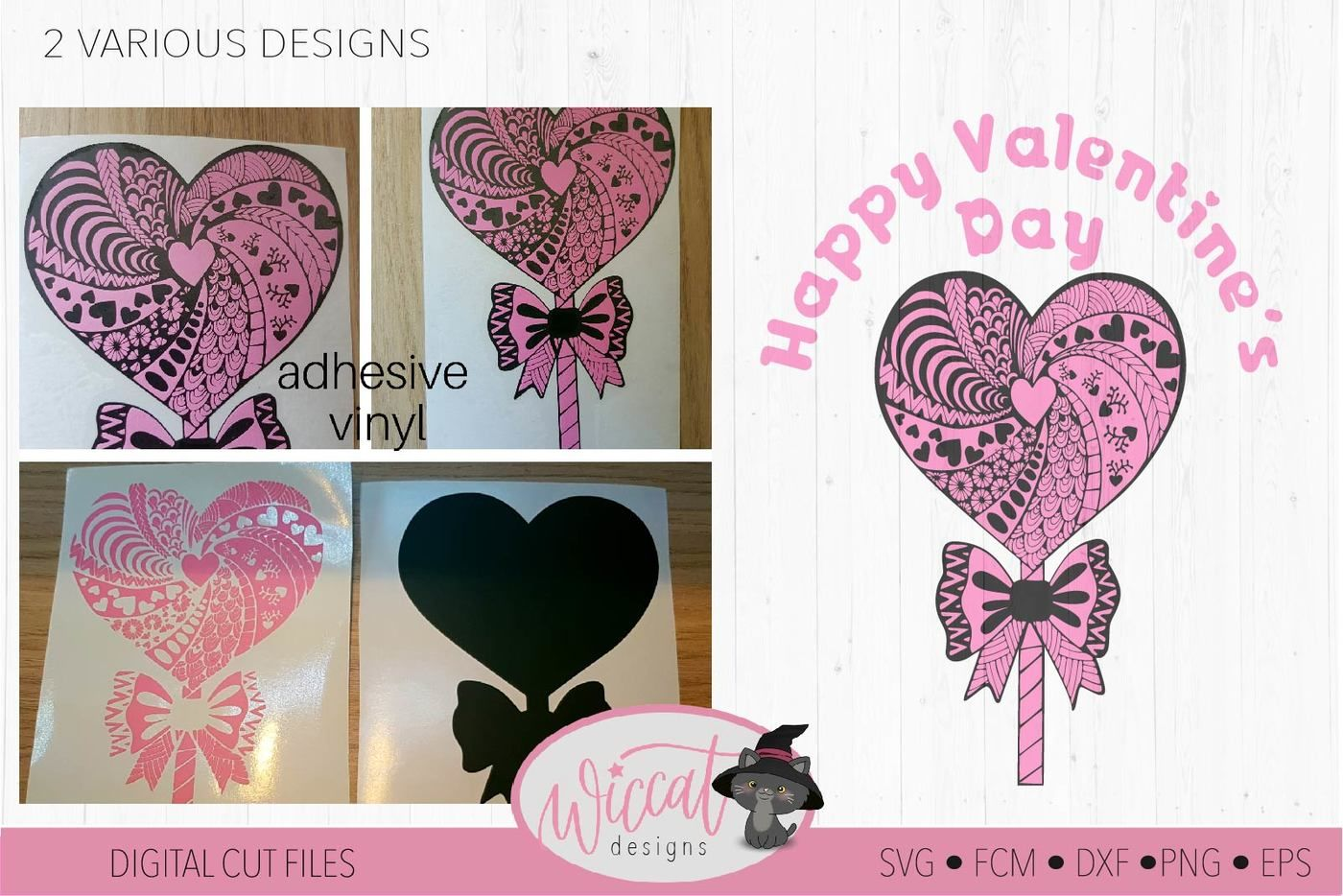 Lollipop Zentangle Heart Valentine Doodle Heart Svg By