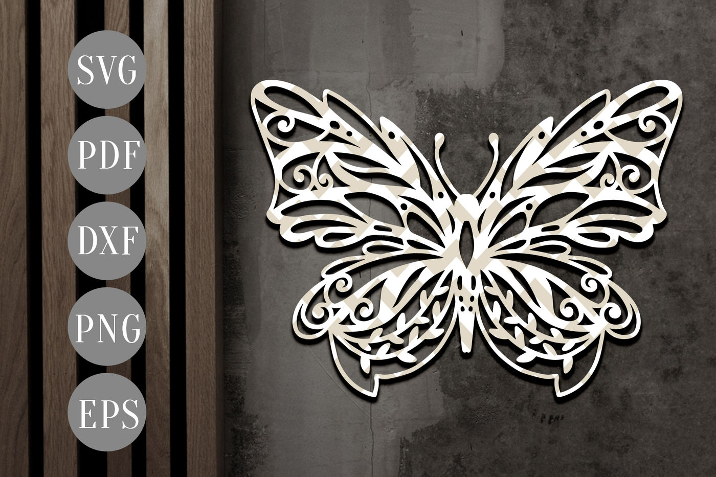 Butterfly Papercut Template Spring Clipart Svg Dxf Pdf By